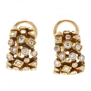 Gold and Diamond Earrings, SiedenGang