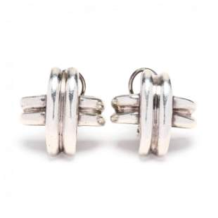 Sterling Silver Signature X Earrings, Tiffany & Co.