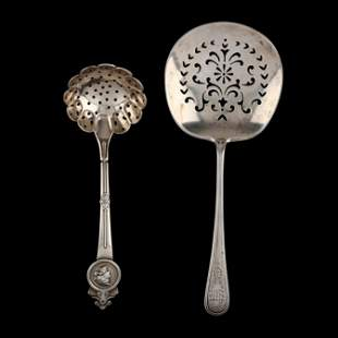 A Sugar Sifter and Tomato Server by Gorham