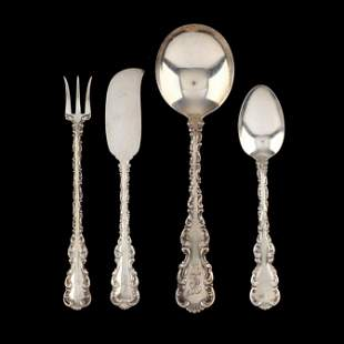 Whiting Louis XV Sterling Silver Flatware Group