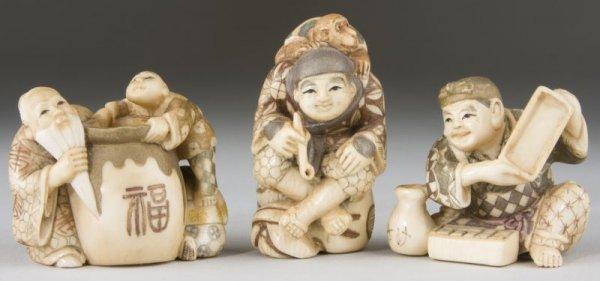 4: Three Ivory Netsukes