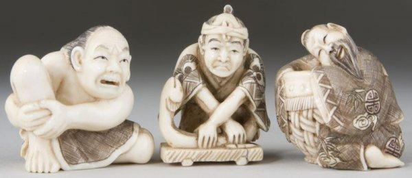 5: Three Ivory Netsukes