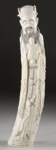 15: Large Asian Ivory Figural Carving