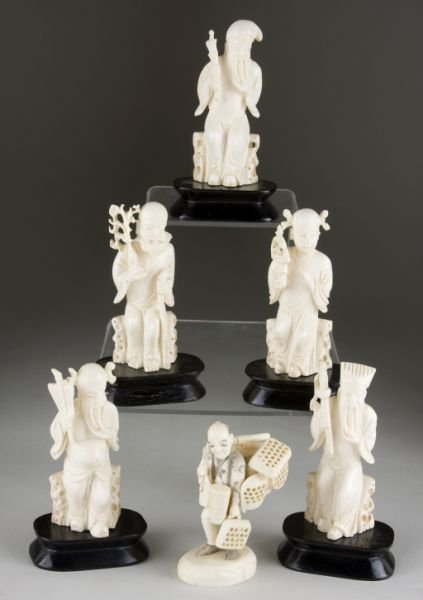17: Group of Carved Ivory Figures