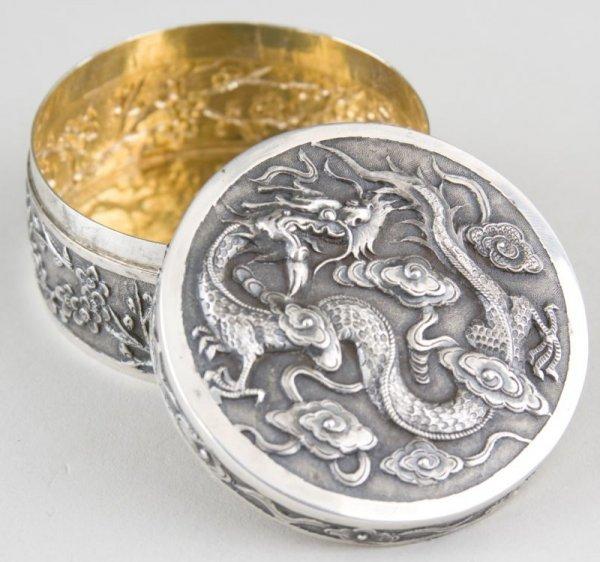 24: Chinese Export Silver Box, Wang Hing