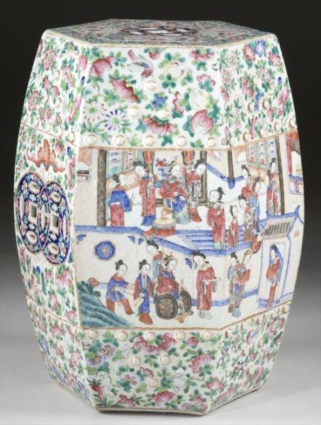 668: Chinese Famille Rose Garden Stool