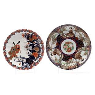 Two Large Japanese Imari Chargers