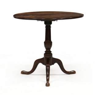 George II Mahogany Tilt-Top Tea Table