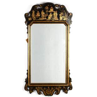 LaBarge, Chinoiserie Chippendale Style Mirror