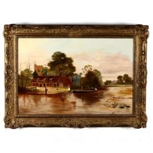 Ernest Walbourn (English, 1872-1927), Lake Scene with