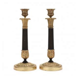 Pair of Parcel Gilt Bronze French Empire Style
