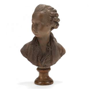 Young Mozart Terracotta Bust