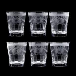 William Yeoward, Set of Six Cut Crystal Pearl