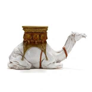 Majolica Camel Form Side Stand