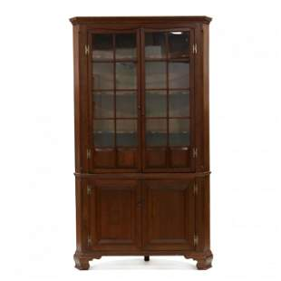 Southern Chippendale Yellow Pine Corner Cupboard