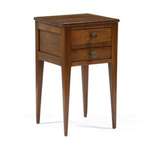 Southern Federal Walnut Two Drawer Side Table