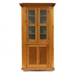 Southern Pine Corner Cupboard