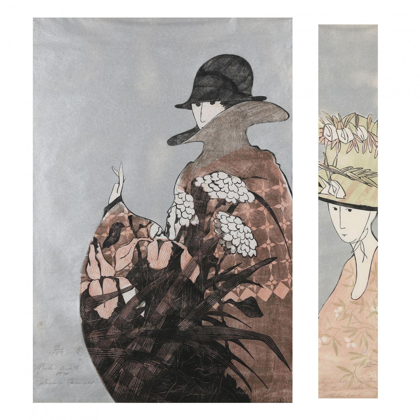 Stephen White (NC), Two Woodblock Portraits