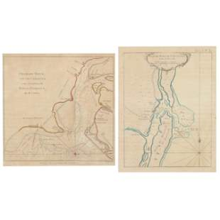 Two Rare Maps of Southeastern Colonial Ports