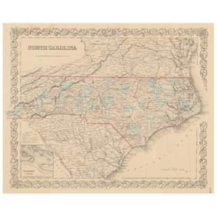 Antebellum Map, North Carolina