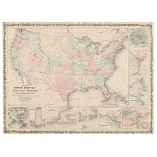 Johnson's New Military Map of the United States...