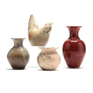 Four Pieces of Phil Morgan (NC) Pottery
