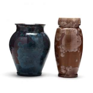 Dover Pottery (NC), Two Crystalline Pottery Vases