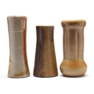 David Stuempfle (NC), Three Pottery Vases