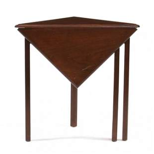 Chippendale Style Mahogany Corner Drop Leaf Table