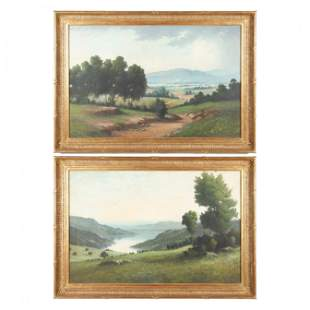 A Pair of Contemporary Spanish Landscapes