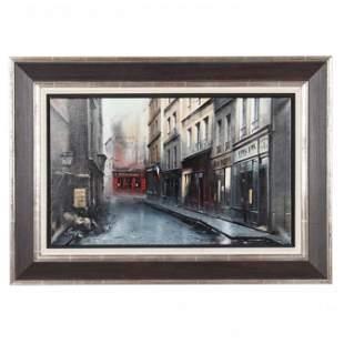 Thomas Pradzynski (Polish, 1951-2007), Rue St. Denis,