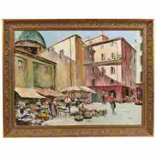 Italian School (mid-20th century), A Bustling Market