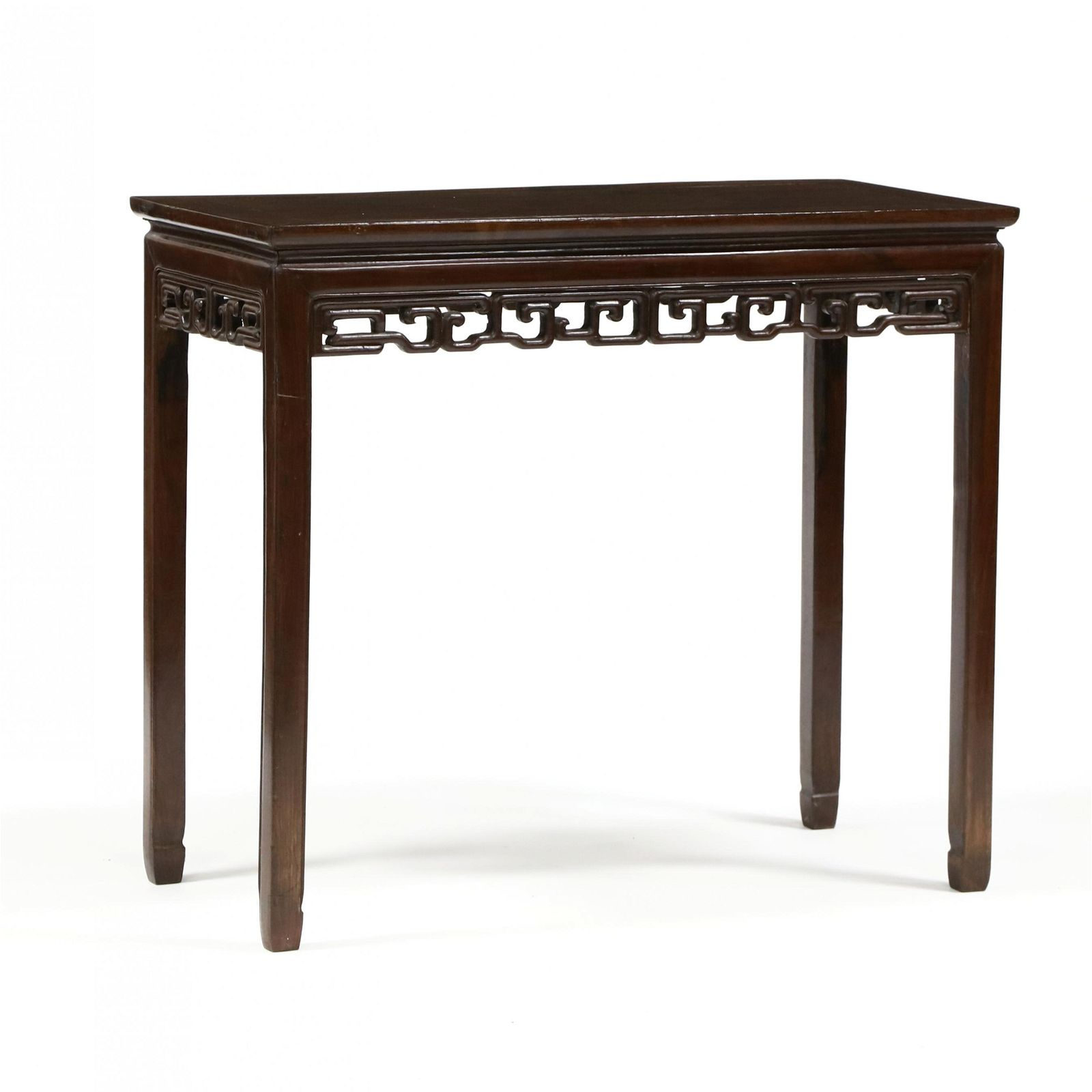 An Antique Chinese Carved Hardwood Console Table