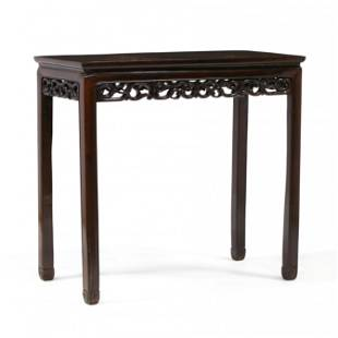 Chinese Carved Hardwood Console Table