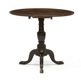 George II Mahogany Tilt Top Tea Table
