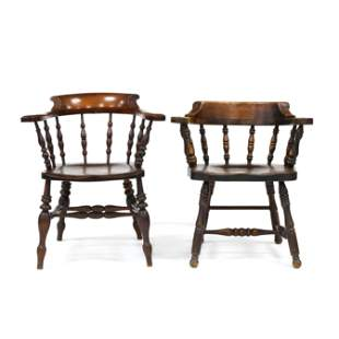 Two English Style Pub Windsor Armchairs