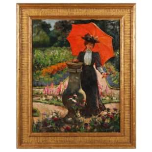 Ella M. Bedford (British, fl. 1882-1908), Young Woman