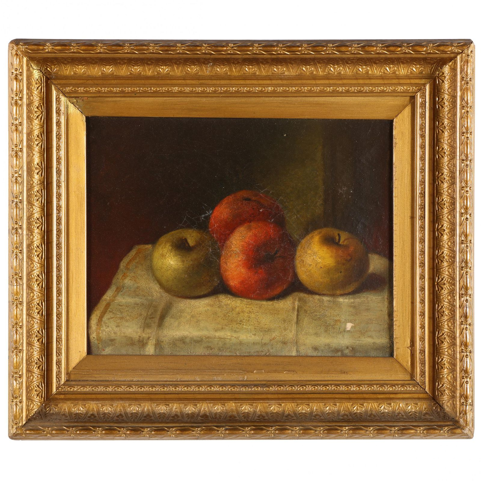 An Antique Still Life Painting with Apples