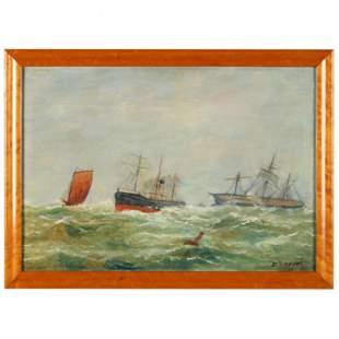Antique English Maritime Painting