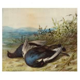 William Cruickshank (British, 1848-1922), Two Pigeons