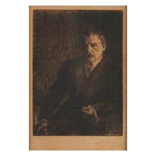 Anders Zorn (Swedish, 1960-1920), Self Portrait I