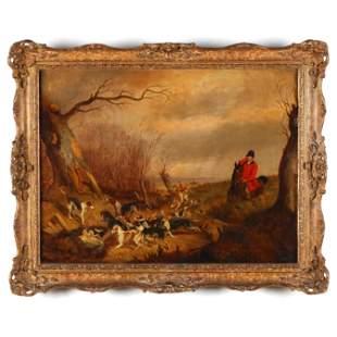 Late 19th Century English Fox Hunting Scene