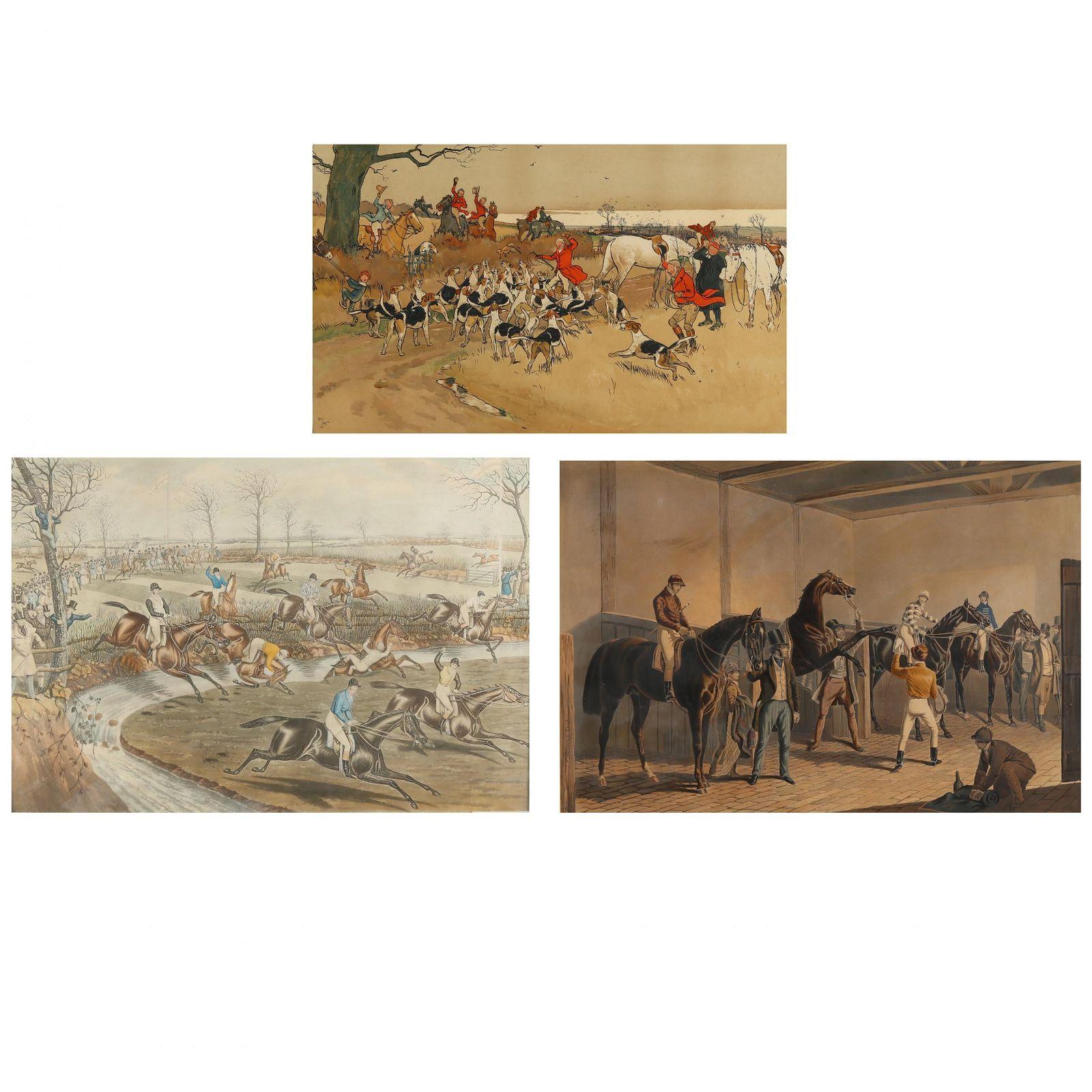 Three Antique Equestrian Prints