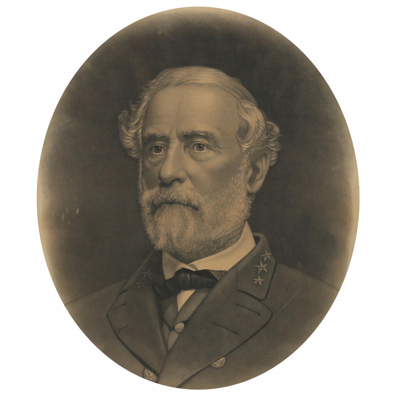 Antique Robert E. Lee Memorial Engraving, 1870