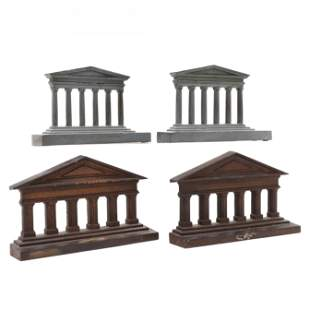 Two Pair of Cast Iron Architectural Bookends
