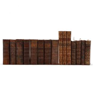 Fifteen Antique Leatherbound Books
