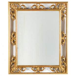Ornate Rectangular Gilt Mirror
