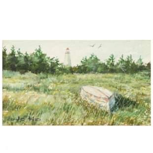 Joe Koch (OH and NC, 1907-2012), Ocracoke Island Scene