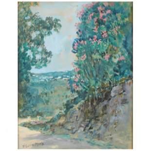Francis Luis Mora (American, 1874-1940), Landscape with