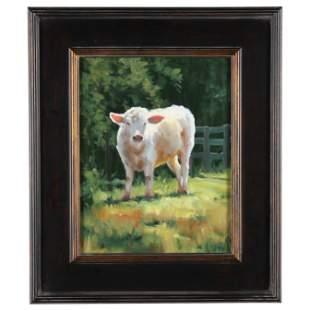 Loryn Brazier (American), Cow in Sunlight